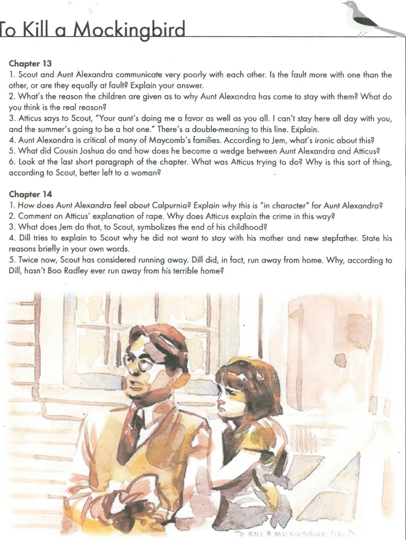 to kill a mockingbird study questions pdf