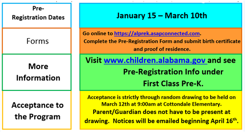 PreK Registration dates