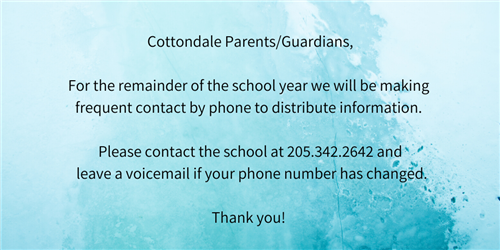 Please update your contact information!