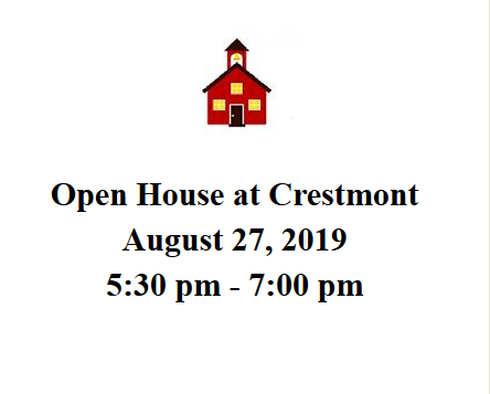 Open House At Crestmont August 27th