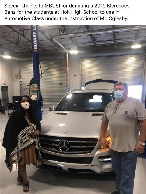 Vehicle Donation from MBUSI