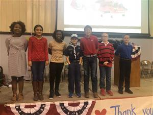 Students who helped with the Veteran's Day Program
