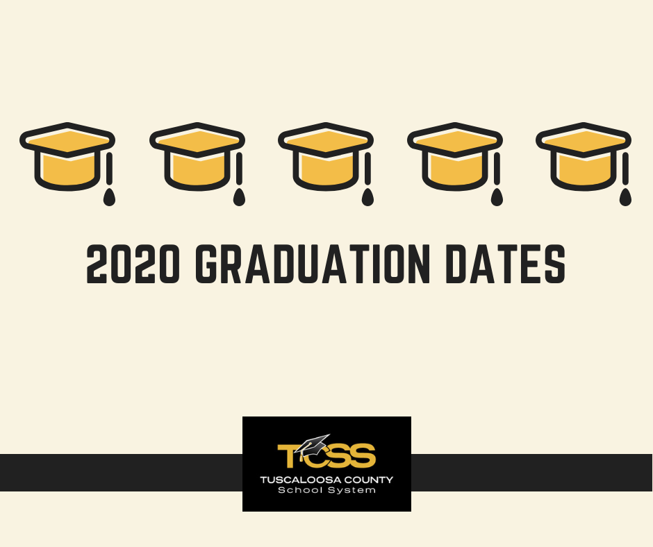 Graduation Caps, 2020 Graduation Dates