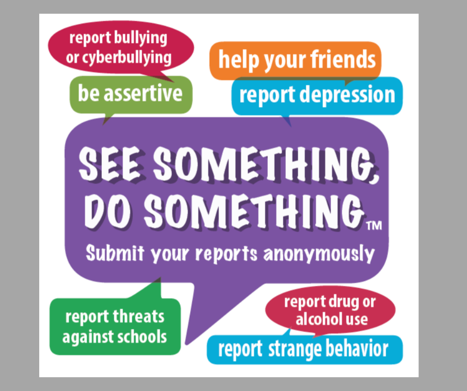 See Something, Do Something. Submit Your Reports Anonymously.