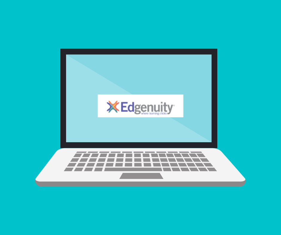Image of laptop computer with Edgenuity logo on screen
