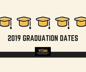 2019 Graduation Ceremony Dates