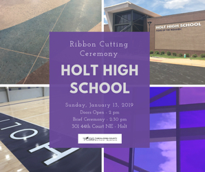 Holt High Ribbon Cutting Ceremony Set for Sunday, January 13