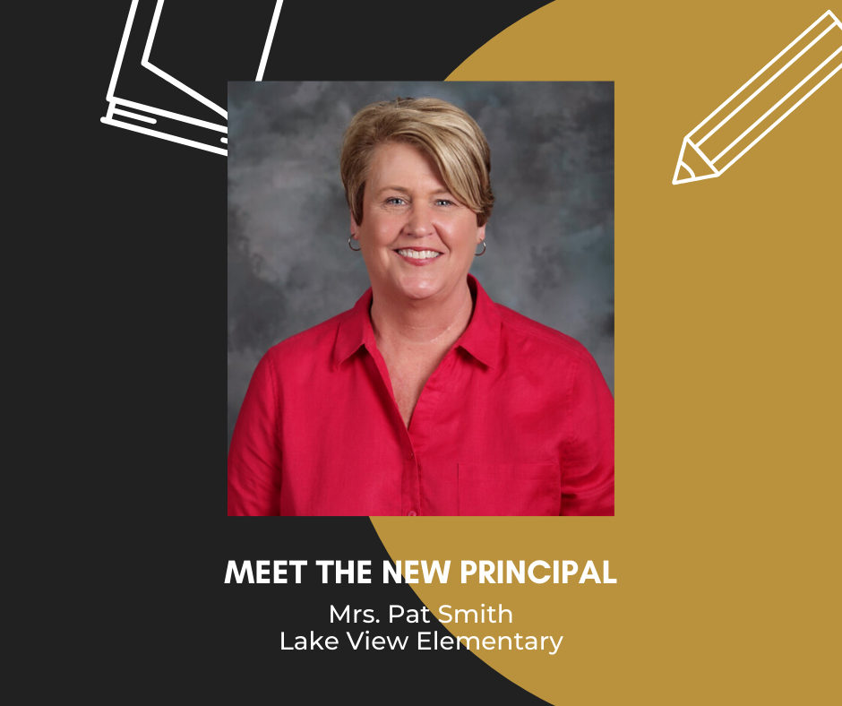 Photo of Mrs. Pat Smith, meet the new principal, mrs. pat smith, lake view elementary