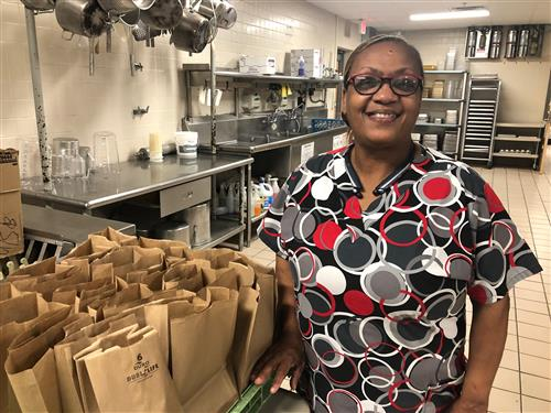 TCSS Child Nutrition Department employee Ms. Helen Gaskin.