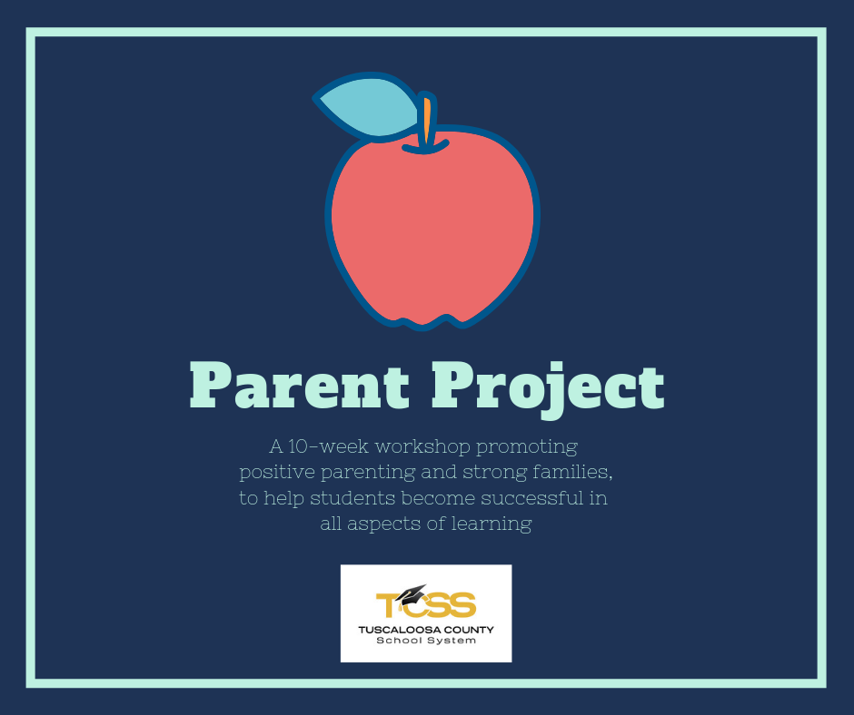 Graphic showing apple and information about TCSS Parent Project