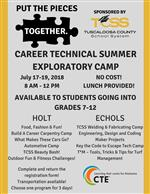 Put The Pieces Together - 2018 Career Technical Summer Exploration camp Flyer.  Click to see full size version.