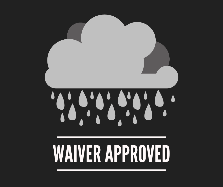 Rain Cloud, Text: Waiver Approved