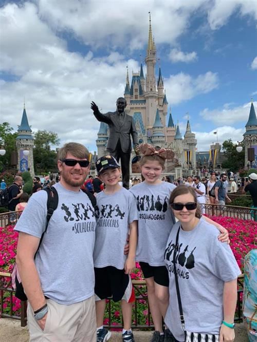 The four of us at Disney World, Spring Break 2019