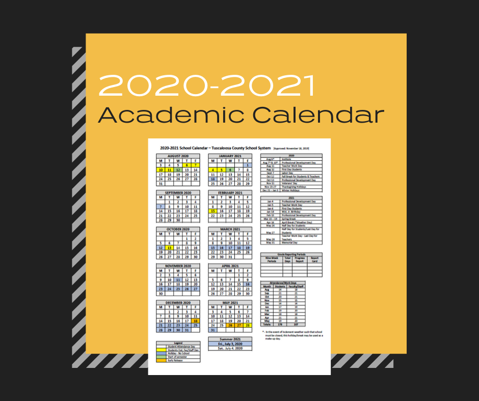 News & Announcements / 2020 2021 TCSS Academic Calendar Approved