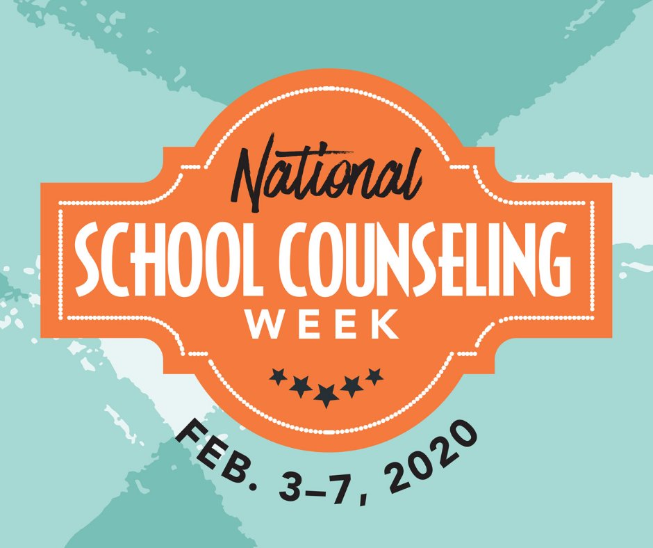 Logo for National School Counseling Week, Feb. 3-7, 2020