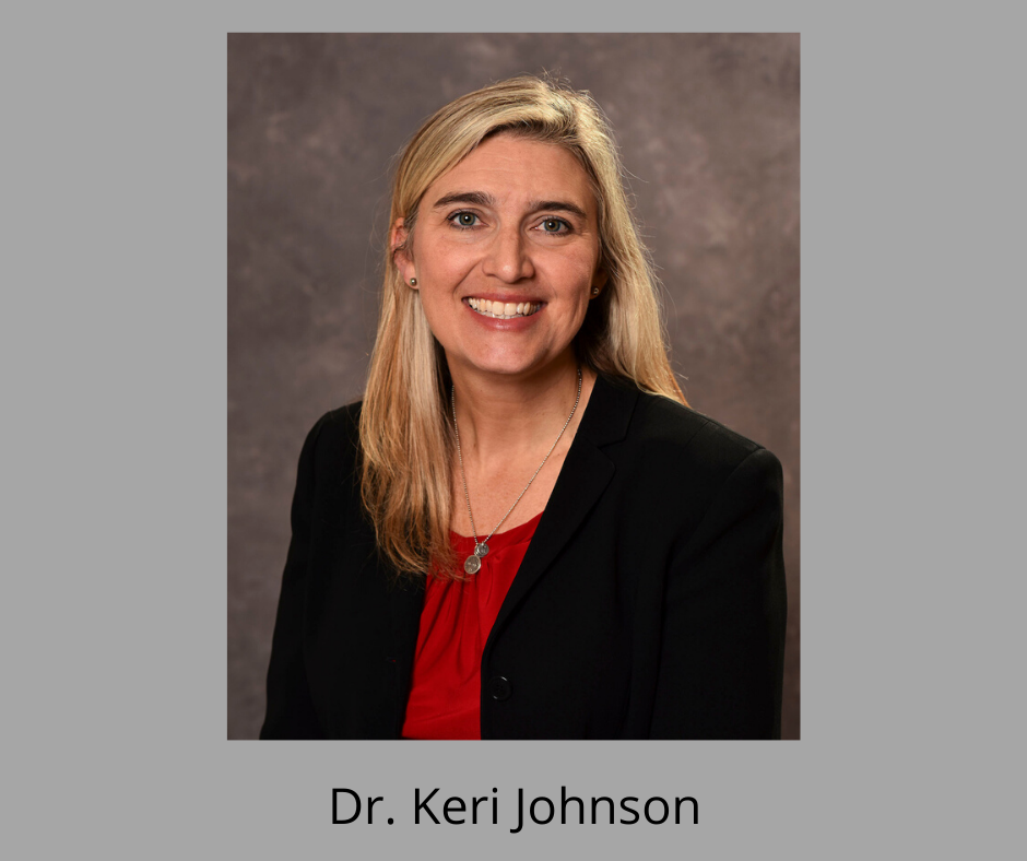 Photo of Dr. Keri Johnson with name.