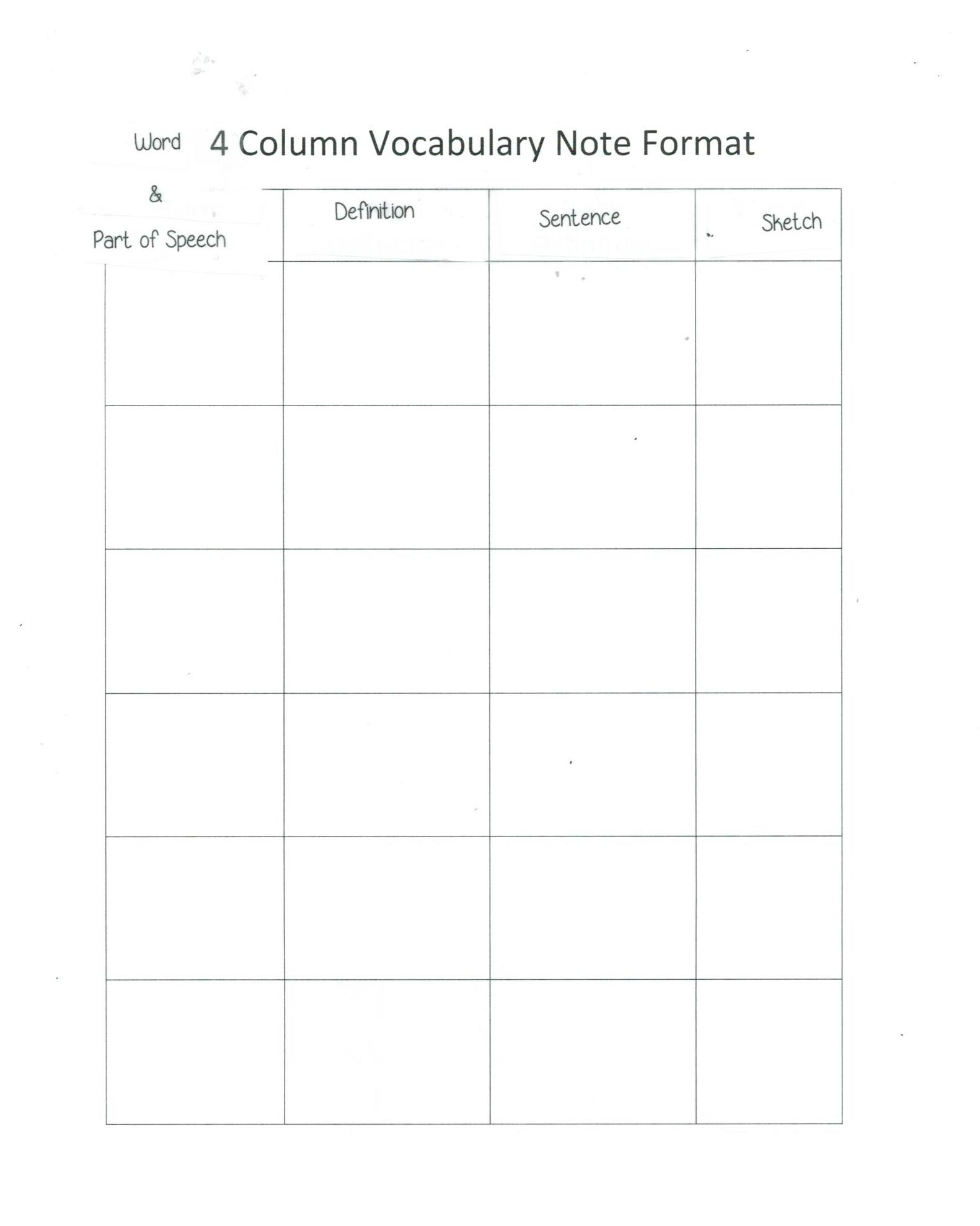 Higginbotham michelle reference handouts for 3 column notes template