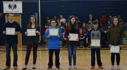 Honored NSMS Students for the 2nd 9 Weeks grading period